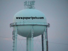 popartpete.com on water tower