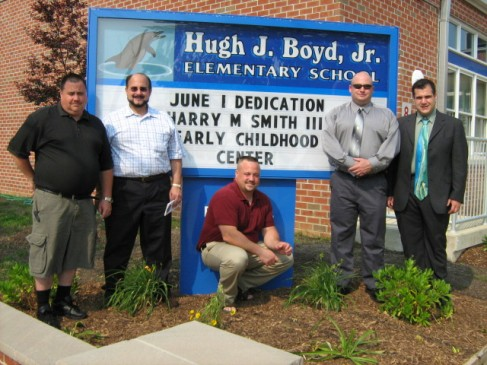 Smith Boys at Hugh J. Boyd School Early Childhood Center Dedication.