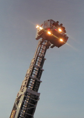 station 44 s new 100 foot ladder truck towers over the rest
