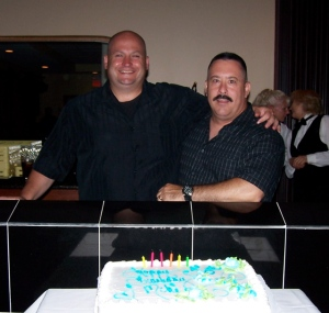 Happy 50th Birthday to Mike Caputo (right), seen with Phil Smith.
